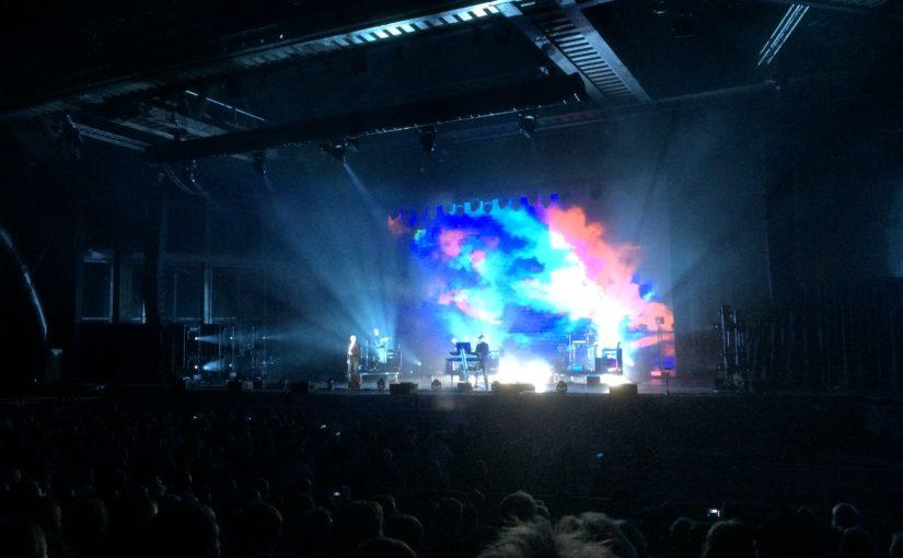 Popgossarna i Pet Shop Boys tog med sig stora ljud- och ljuspåsen till kalkbrottet i Dalarna.