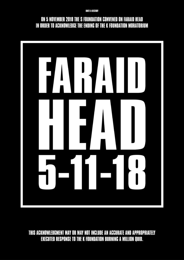 Flyer för S Foundations närvaro på Faraid Head, november 2018.